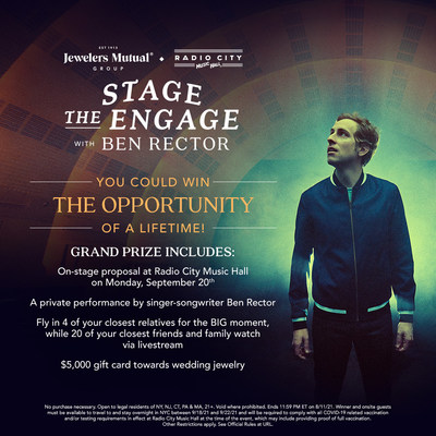 Jewelers Mutual® Group teams up with MSG Entertainment and Ben Rector for Stage the Engage contest at Radio City Music Hall