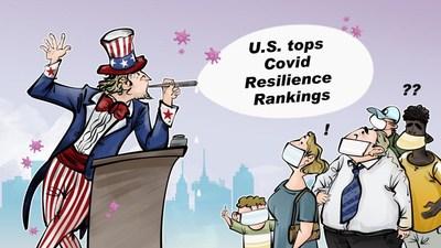 CGTN:Estados Unidos ocupa el primer puesto en el informe de resiliencia de la COVID-19, vaya broma