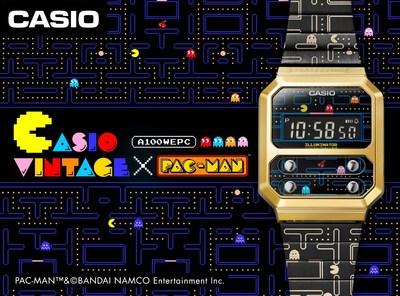Casio lanza el modelo de colaboración PAC-MAN con un estilo retro y divertido en un reloj digital