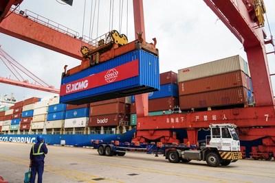 XCMG envía 972 unidades de equipos de maquinaria de construcción a Sudamérica