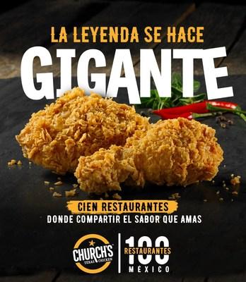 Church's Texas Chicken™  inaugura su restaurante número 100 en México