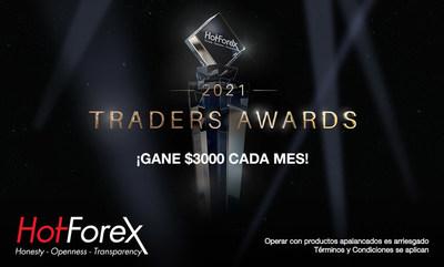 ¡HotForex aumenta el dinero del premio para los Traders Awards!