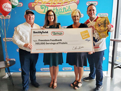 Nathan's Famous® Teams Up With Kroger And Reigning Hot Dog Eating Champion Joey Chestnut For National Hot Dog Day Event