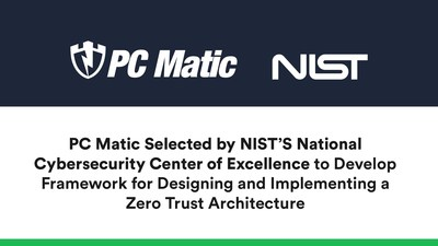 PC Matic Selected by NIST's National Cybersecurity Center of Excellence to Demonstrate Zero Trust Architectures