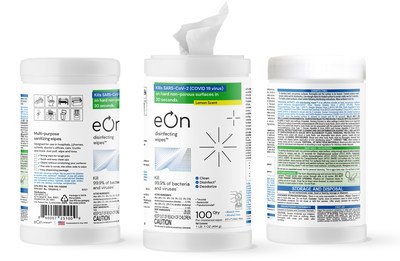 With Launch of New Licensed eOn Disinfecting Wipes™, eOn Brands LLC Expands Commitment Against Covid-19 and Variants