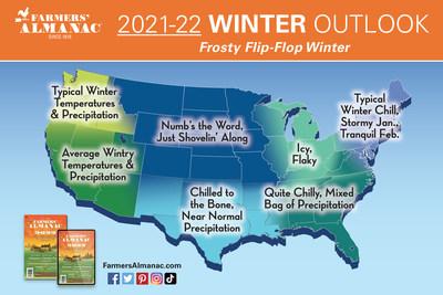 Farmers' Almanac Forewarns of Frosty Flip-Flop Winter Ahead