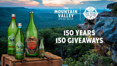 Mountain Valley Spring Water Celebrates 150th Anniversary With Sweepstakes