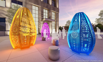 'Luminaria' by International Artist Gordon Huether Unveiled in Albuquerque Honoring Victims of Violence