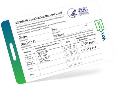 Go more places with a durable, wallet-sized VaxCard