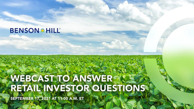 Benson Hill to Host Introductory Webcast and Q&A for Retail Investors Interested in Learning More About the Sustainable Food Technology Company Driving the Plant-Based Food Revolution