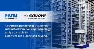HAI ROBOTICS se une a Savoye para impulsar el almacenamiento inteligente