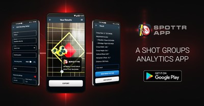 SPOTTR shot groups analytics app is now available on mobile devices