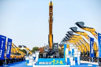 Excavadoras XCMG registra una producción y venta acumulada de 200.000 unidades