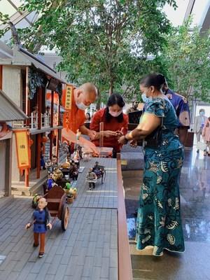 Evento de intercambio internacional para celebrar la próxima Fiesta del Medio Otoño en el distrito financiero central de Pekín