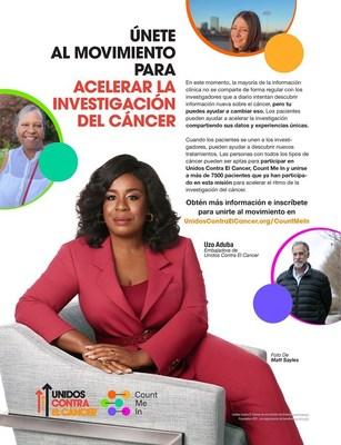 Uzo Aduba, ganadora del premio Emmy, Unidos Contra El Cáncer y Count Me In unen fuerzas para crear una nueva campaña de anuncio de servicio público para alentar a los pacientes con cáncer a que compartan sus voces