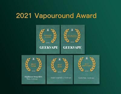Marca china de cigarrillos electrónicos Geekvape obtiene cinco premios en Vapouround Award 2021