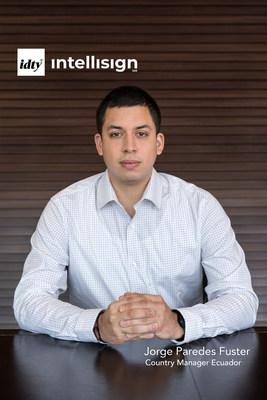 IDTY nombra a Jorge Paredes Fuster como Country Manager Ecuador para liderar la digitalización de acuerdos y contratos electrónicos con Intellisign