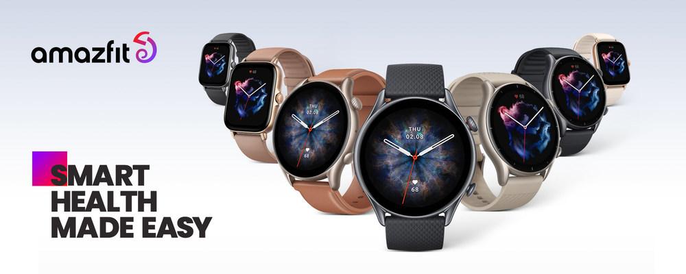 Se lanzan los relojes inteligentes Amazfit de las series GTR 3 y GTS 3, fusionando la moda y la tecnología en tres dispositivos portables destacados: el GTR 3 Pro, el GTR 3 y el GTS 3