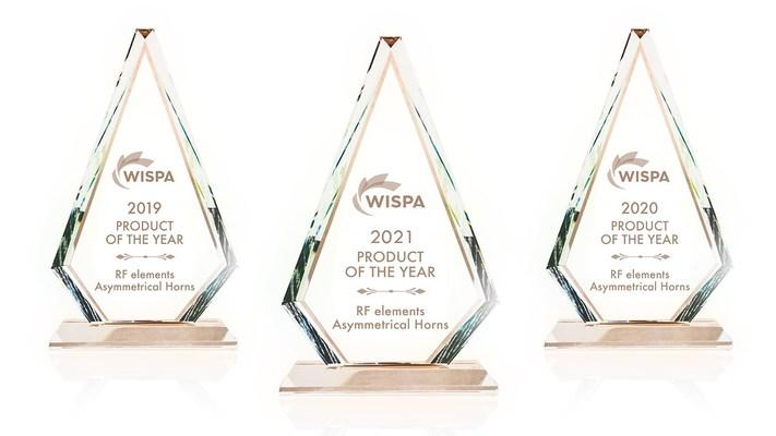 RF elements Asymmetrical Horns votado Producto del Año de WISPA 2021 por tercer año consecutivo