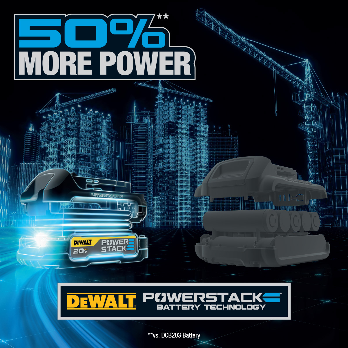 DEWALT® Is The World's First Major Power Tool Brand To Use Pouch Cell Batteries Designed For The Construction Industry, Marking A New Era Of Cordless Power Tool Performance