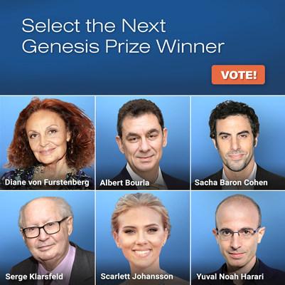 Genesis Prize Foundation da a conocer los nombres de los finalistas del