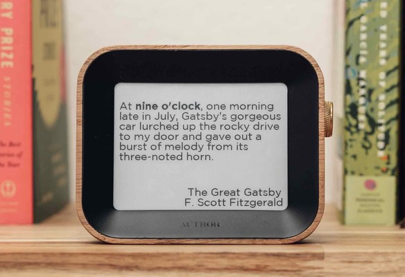 The Author Clock launches on Kickstarter with thousands of literary quotes that tell the time