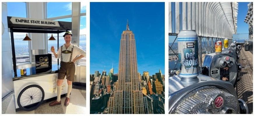 El Empire State Building se asocia con Bronx Brewery como segundo vendedor del programa pop-up del ESB para ofrecer bebidas y comidas a los visitantes