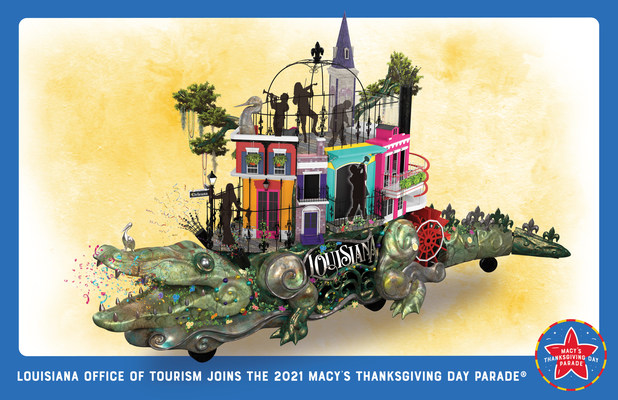 Louisiana Lieutenant Governor Billy Nungesser and the Louisiana Office of Tourism Announce a New Float for the 95th Annual Macy's Thanksgiving Day Parade®