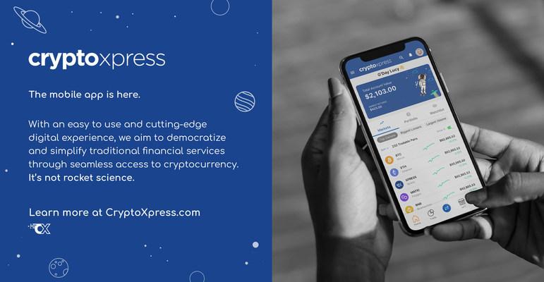 CryptoXpress lanza una aplicación móvil para unir los mundos de las criptomonedas y la banca