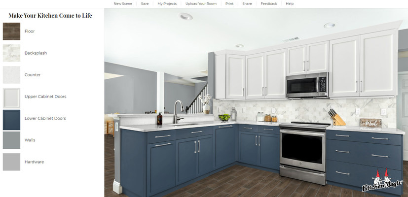 Kitchen Magic Launches Visualizer Tool to Bring Renovation Design to Life for National Kitchen & Bath Month