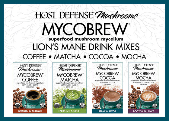 Introducing Mushroom Mycelium-Powered MycoBrew™ Beverages from Fungi Perfecti® - Makers of Host Defense® Supplements
