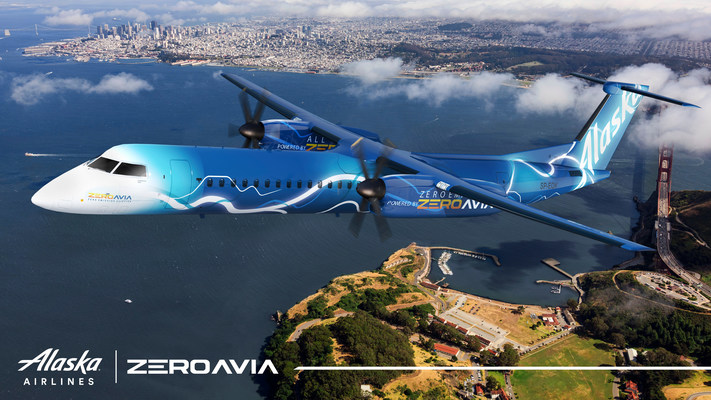 Alaska Air Group Collaborating with ZeroAvia to Develop Hydrogen Powertrain for 76-Seat Zero-Emission Aircraft