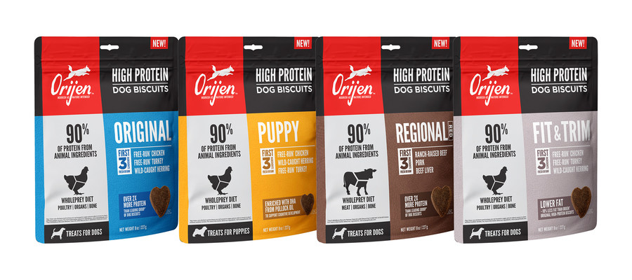 ORIJEN® Pet Food Launches New High Protein Biscuits with Energizing Protein in Every Bite