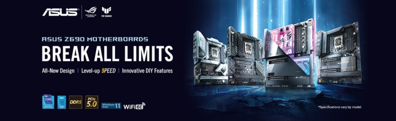 ASUS Launches Z690 Series Motherboards