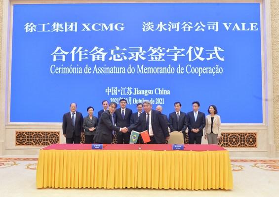 XCMG Machinery firma un memorando de entendimiento con Vale para acelerar las prácticas de minería ecológica