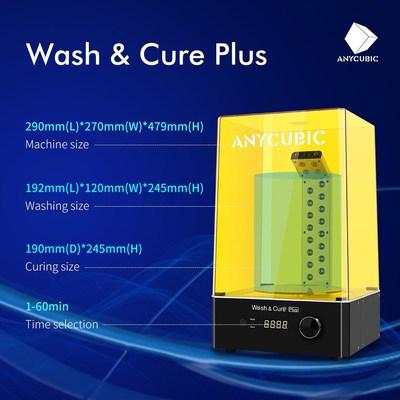 Anycubic lanza Wash & Cure Plus, una innovadora máquina de lavado y curado de resina de impresión 3D
