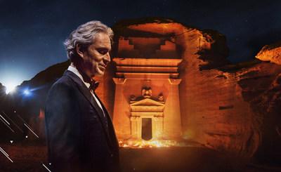 Maestro Andrea Bocelli en vivo desde Hegra y gratis en YouTube: la Comisión Real de AlUla