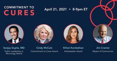 Star-Studded Virtual Event from American Brain Foundation to Recognize Breakthroughs in Brain Disease Research on April 21