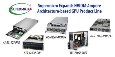 Supermicro amplía la línea de productos de GPU basados en la arquitectura NVIDIA Ampere