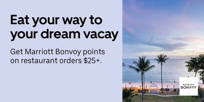 Marriott Bonvoy™ And Uber Team Up For First Of Its Kind Collaboration Enabling Members To Earn Points On Both Food Delivery And Rides