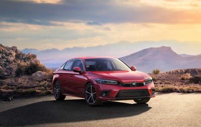 Honda ofrece la primera imagen de la completamente nueva 11.ª generación del Civic Sedán