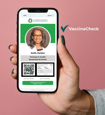 Free Digital COVID-19 Vaccine Card for St. Mary's County Residents