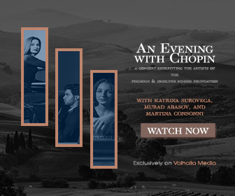 The Frederic & Jocelyne Scheer Foundation Announce the One Week Extension of An Evening with Chopin