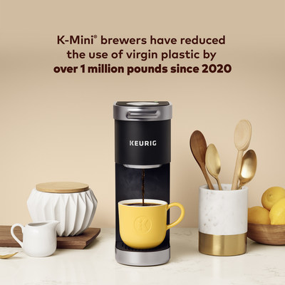 Keurig Dr Pepper Advances Circularity Mission by Reducing Use of Virgin Plastic in K-Mini Brewers by Over One Million Pounds