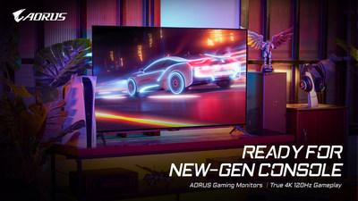 Los monitores GIGABYTE AORUS 4K para juegos están preparados para la nueva generación de consolas