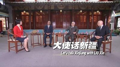 CGTN: Hablemos sobre Xinjiang: Entrevistas de Liu Xin con tres embajadores en China