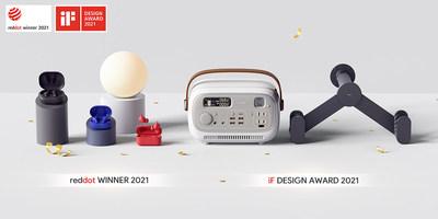 El líder mundial en tecnología AUKEY gana los premios de diseño iF 2021 y Red Dot