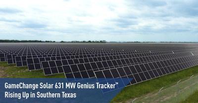 Genius Tracker™ de 631 MW de GameChange Solar aumentando en el sur de Texas