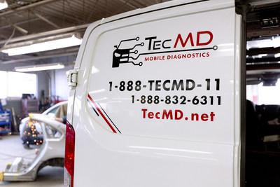 TecMD ofrece servicios de diagnóstico, programación y calibración móvil para centros de reparación y colisión de automóviles