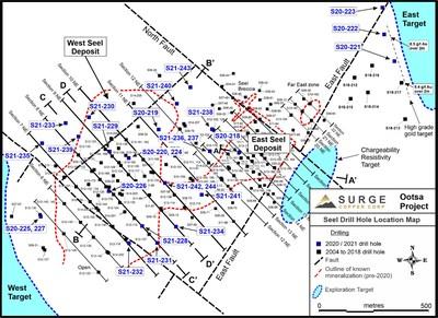 Surge Copper intersecta 830 metros de 0,38% CuEq y 378 metros de 0.40% CuEq en West Seel